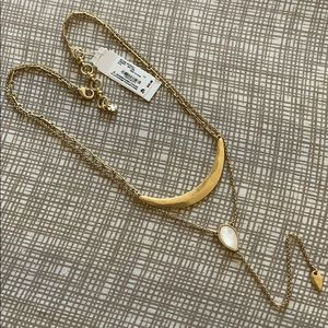 NWT🎁Lucky Brand Layered Crescent Stone Y Necklace